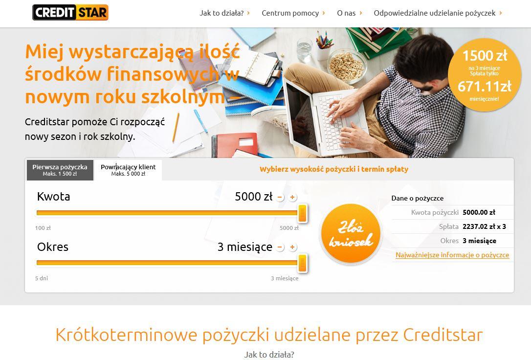 Pożyczka creditstar jak wnioskować